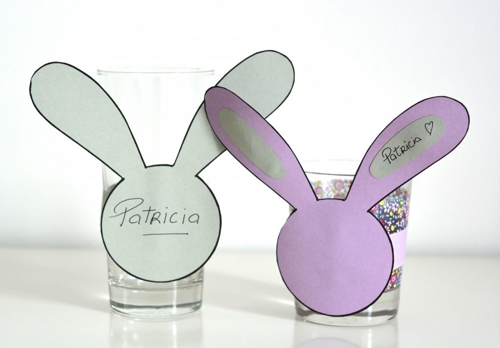 marques verres lapins DIY Pâques