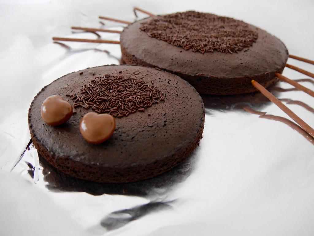 gâteau au chocolat araignée halloween