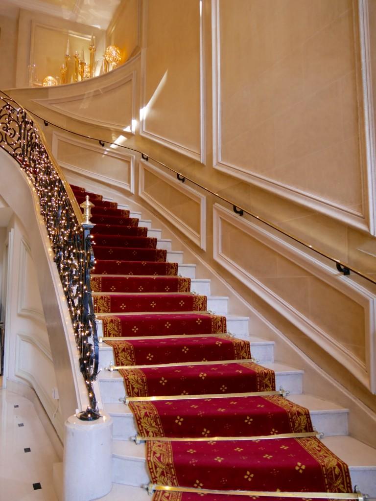 escalier Marriott Champs Elysées
