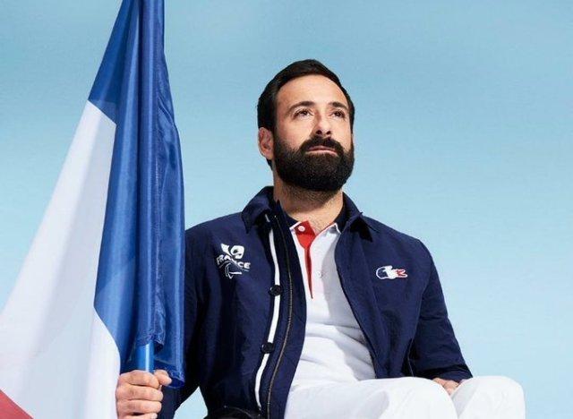 michael jeremiasz porte drapeau