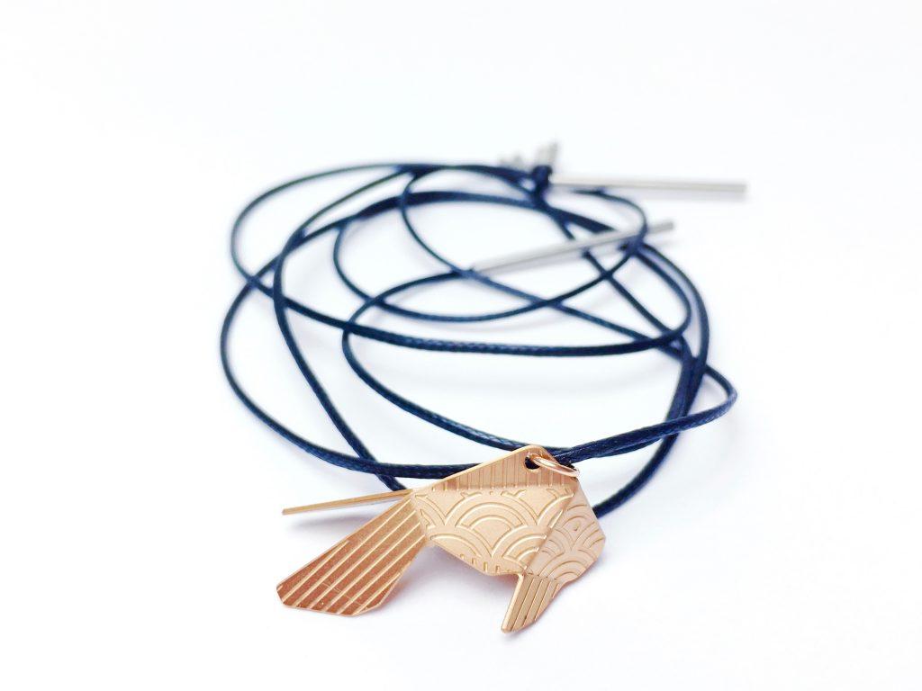 pendentif poisson Joligami bijou Kosha