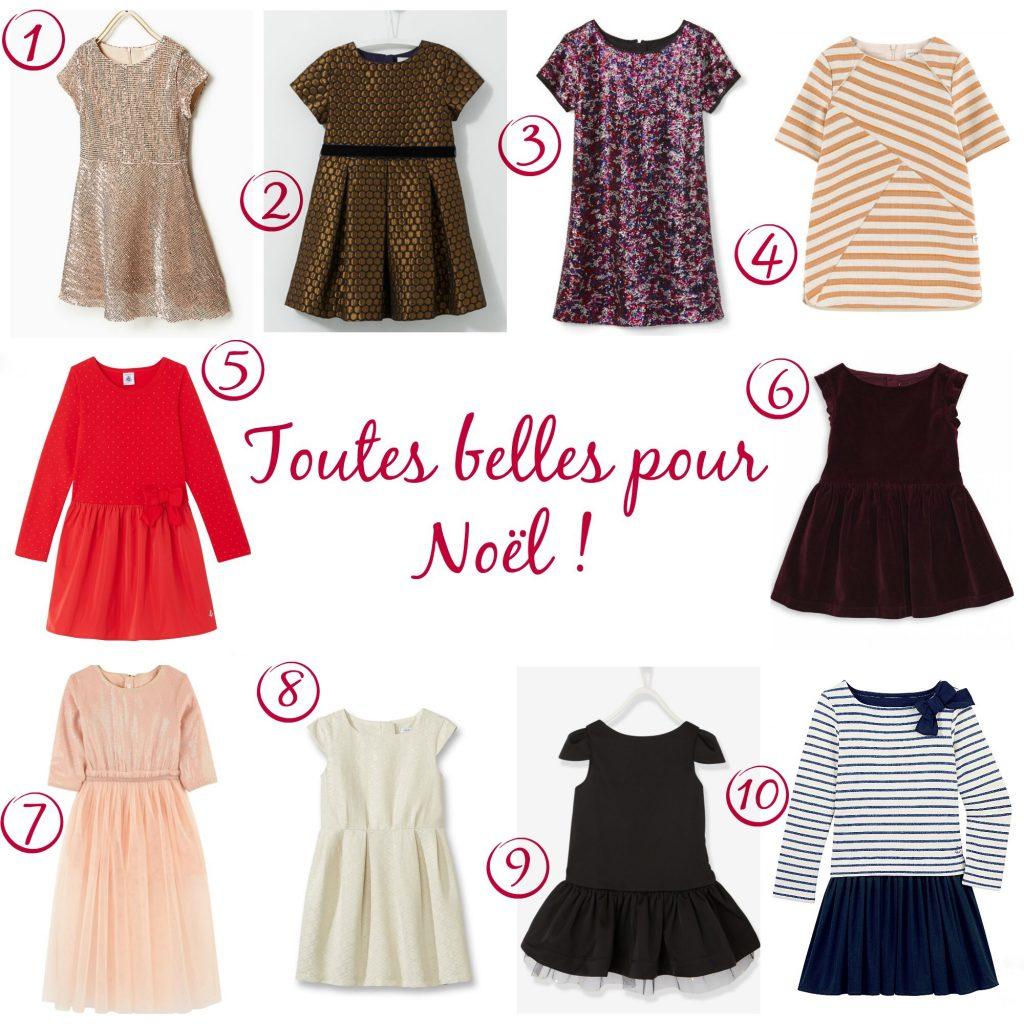 tenues de fêtes pour petites filles