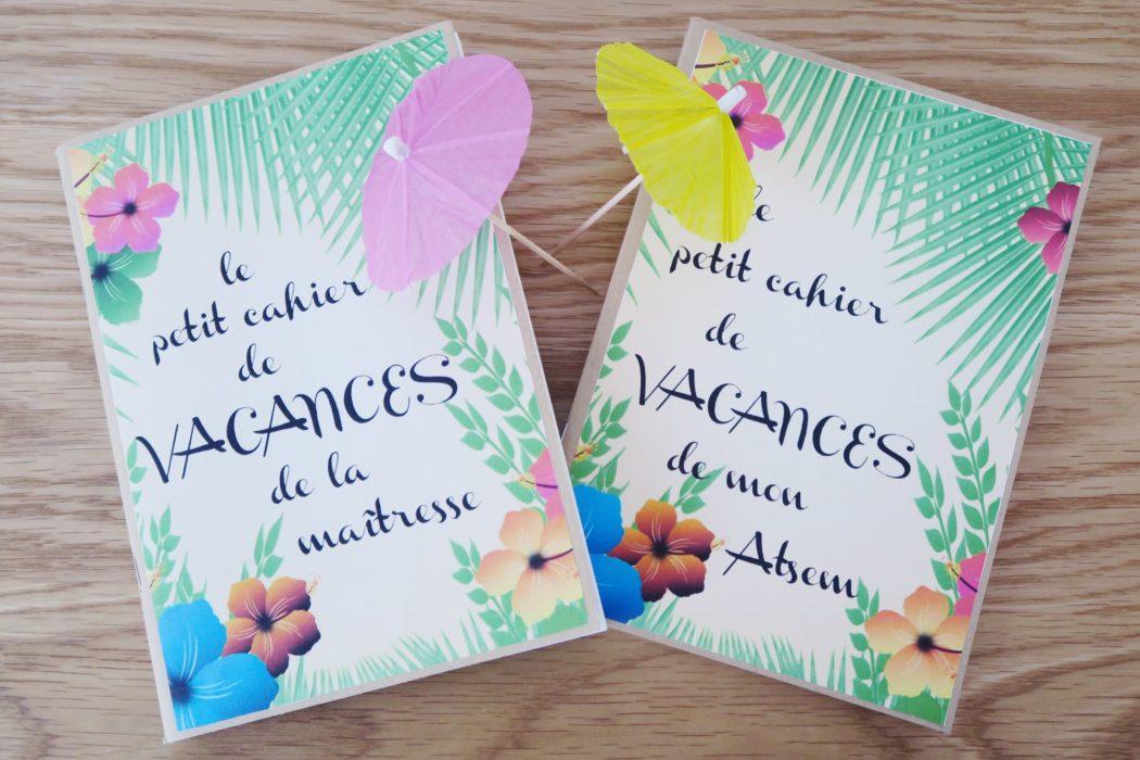 Un petit cahier de vacances pour la ma tresse - Cadeau pour maitresse a fabriquer ...